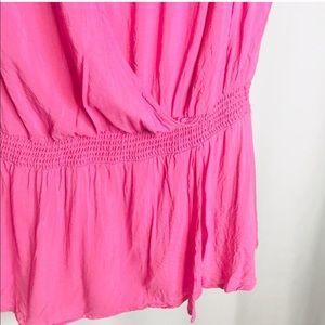 Banana Republic Tops - 🌷Banana Republic Hot Pink Tie Shoulder Wrap Top